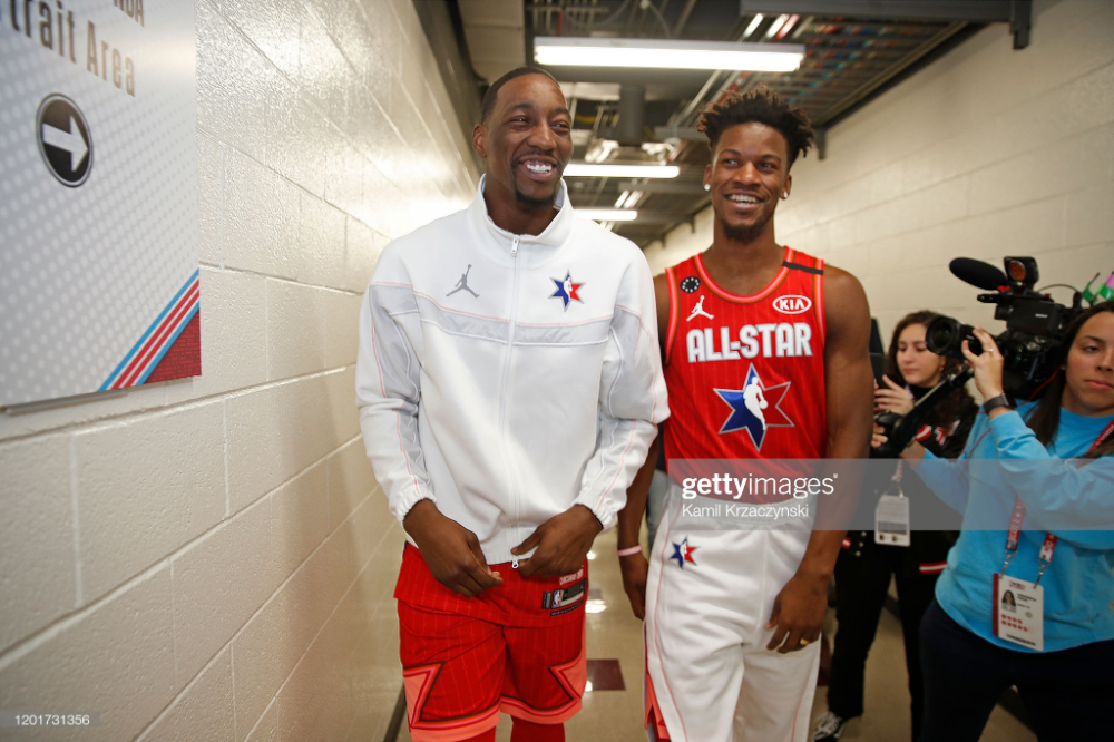 Bam Adebayo And Jimmy Butler Of Team Giannis Talk During The 69th Nba In 2020 Man Crush Everyday Butler Gianni