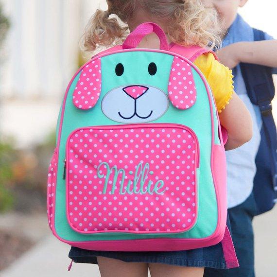 Monogrammed Preschool Backpack-Preschool Backpack-Puppy Preschool Backpack-Pink  Puppy Preschool Book 3218a02d3a287