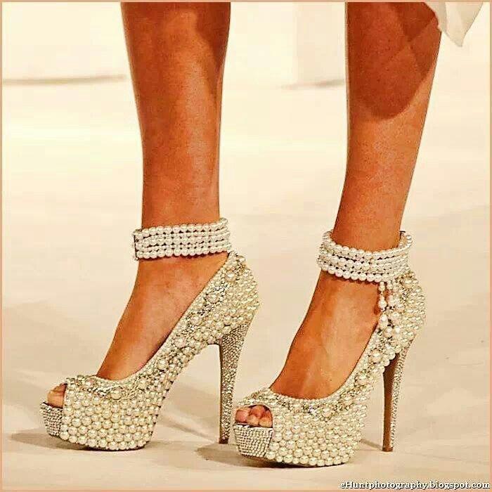 Refurbishing worn heels by bedazzling!
