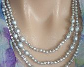 """Ashira Pearls 60""""  4-9mm Freshwater Baroque Pearl Necklace, Silver Grey"""