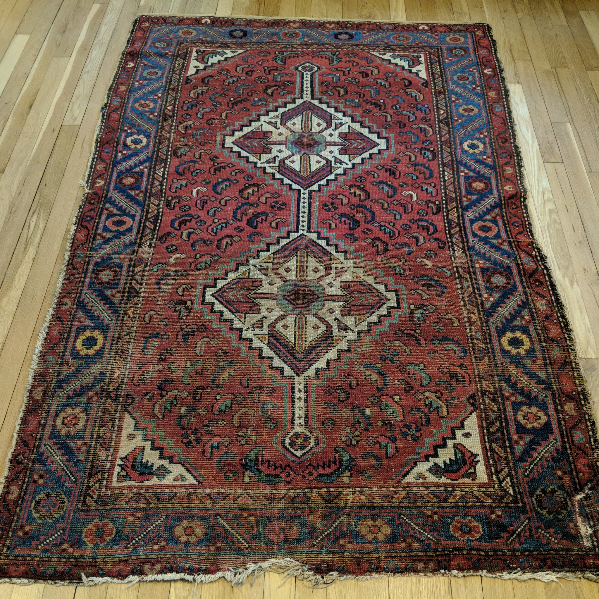 Antique Rug 4 3 X 6 5 Red Rugs Antiques Oriental Rug