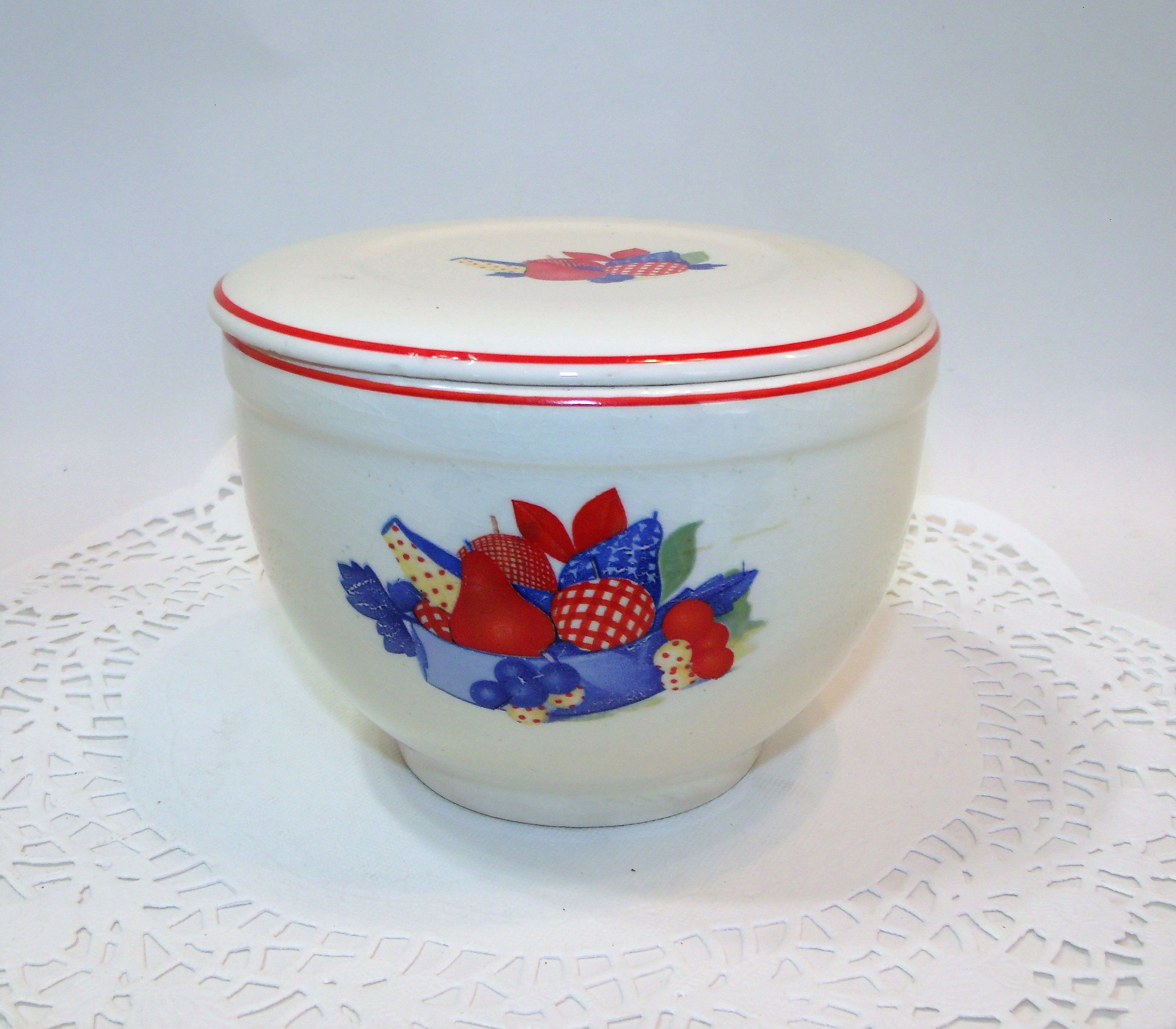 Universal Cambridge Pottery Calico Fruit ~ Small Serving / Mixing ...