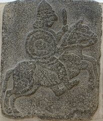 Berlin, Pergamonmuseum. Relief of a horseman from the Neo-Hittite city-state of Samal, Zincirli, Turkey.