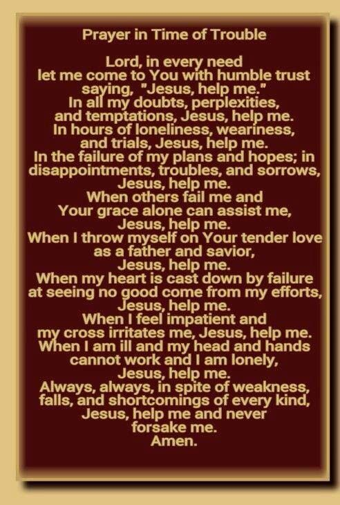 Prayer In Time Of Trouble ❤️ | CF Catholic Prayer | Prayers