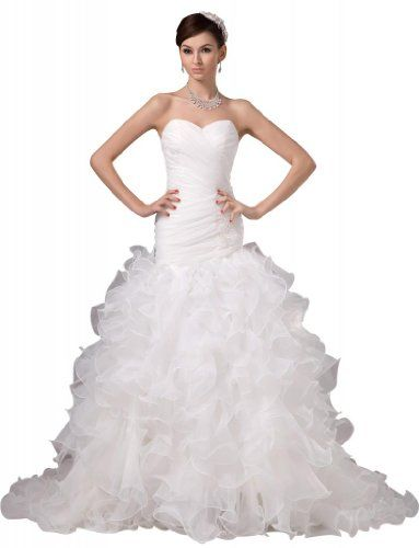 GEORGE BRIDE ELegant Strapless Tiered Organza Wedding Dress Size 6 Ivory GEORGE BRIDE,http://www.amazon.com/dp/B009HPENQQ/ref=cm_sw_r_pi_dp_sbmZsb07DANPZ455