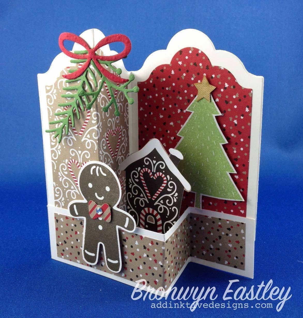 Z Fold Christmas Card, Shaped Card, Gingerbread Man