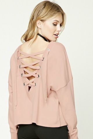 Contemporary Lace-Up Sweatshirt  93d9d2aaa