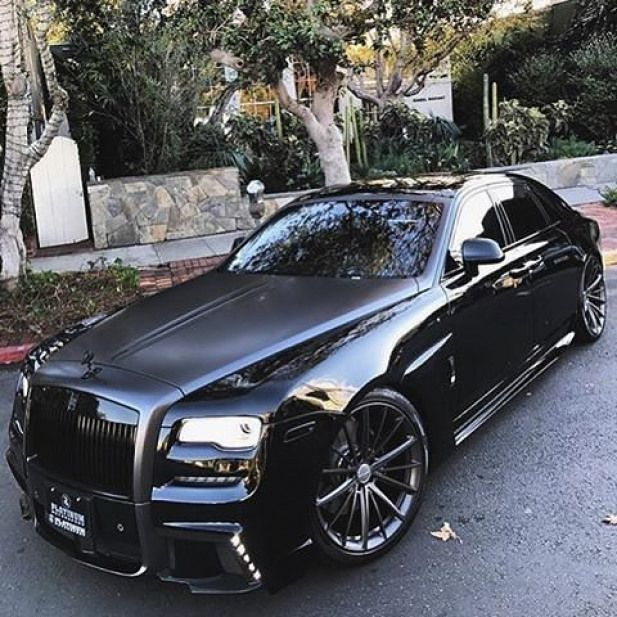 All black Rolls Royce Ghost WALD Black Bison II What do you think? By @platinum group. . #rollsroyce #ghost #luxury #supercar #murderedout #blackedout #verynice #luxurylife #want #need #supercars #supercars #black