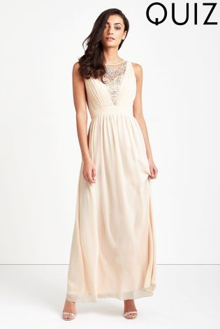 Buy Quiz Embellished Pleated Maxi Dress from Next Israel  63b552758