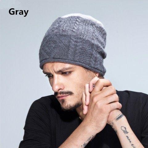 Gradient knit hats for men winer beanie hats cheap