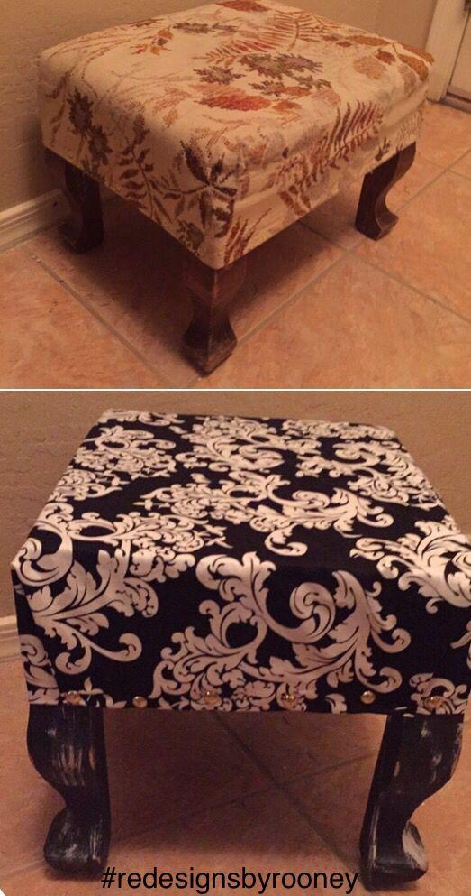Repurposed foot stool #redesignsbyrooney