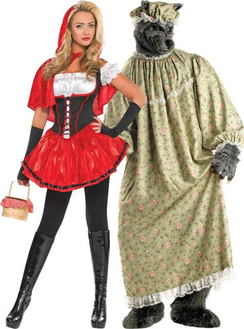 50Red Riding Hood and Granny Wolf Couples Costumes - Party City - Minnesota Vikings Basic Party Kit For 18 Guests Costumes