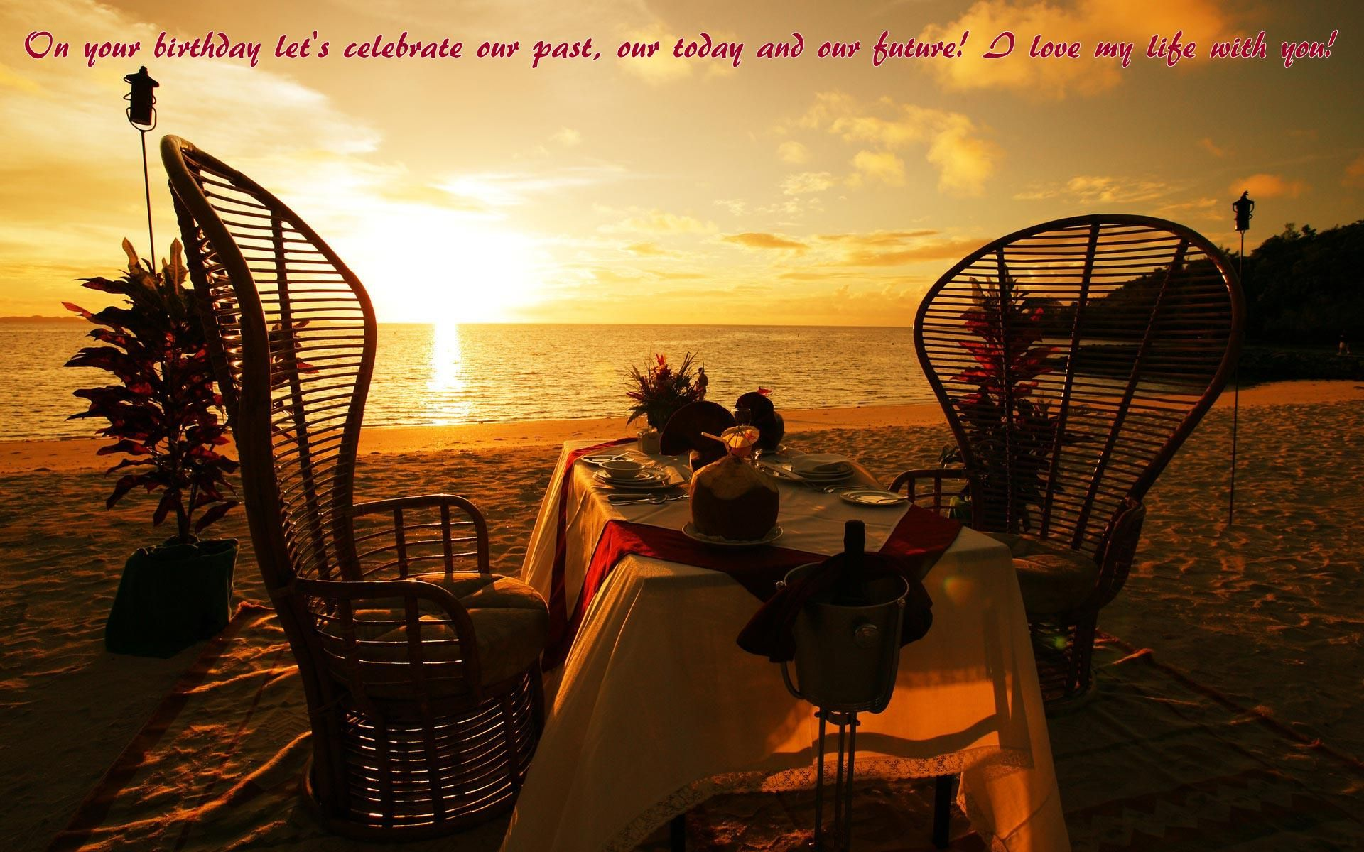 Happy Birthday To Love HD Wallpapers, Messages U0026 Quotes   Let Us Publish.  Romantic BeachRomantic PlacesRomantic ...