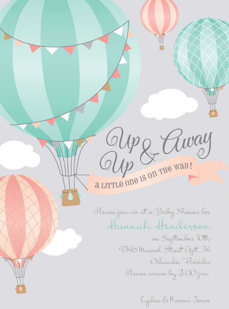 The Perfect Whimsical Baby Shower Theme Up Up Away Hot Air