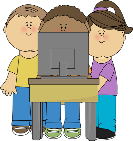 kids using school computer clip art school pinterest teaching rh pinterest nz  school computer lab clipart