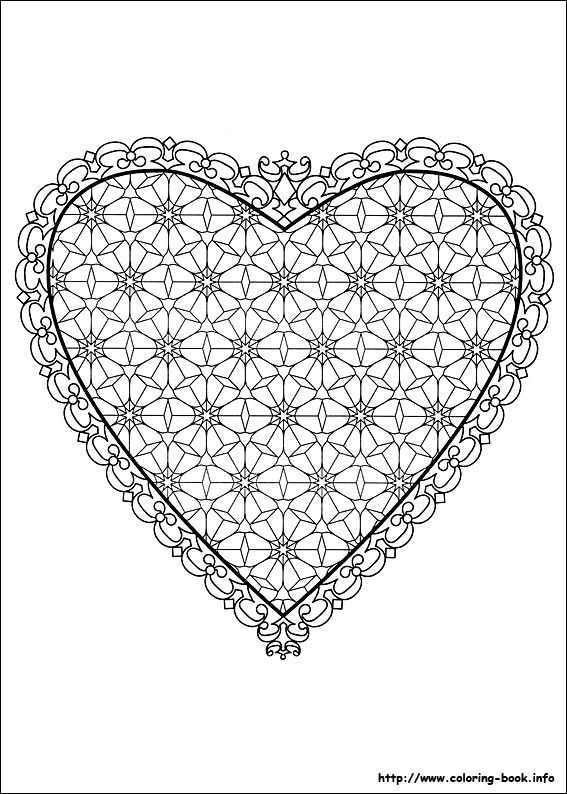 Valentine\'s Day coloring picture | Mandalas | Pinterest | Muttertag ...