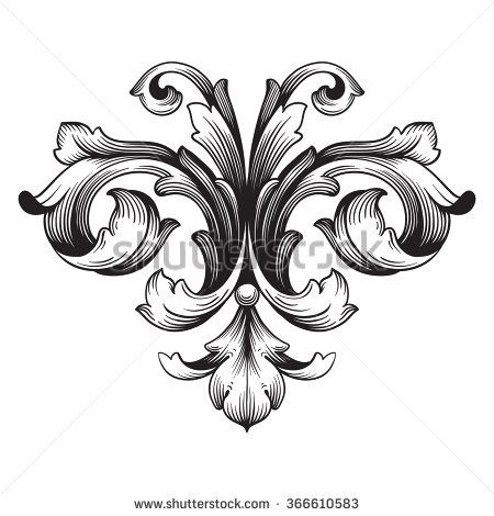 Image result for fleur de lis engraving Engrave Pinterest - baroque scroll designs