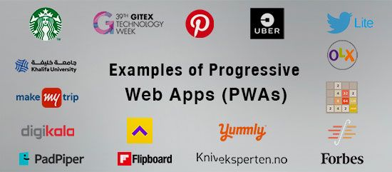 A PWA, a kind of application software, consist of various