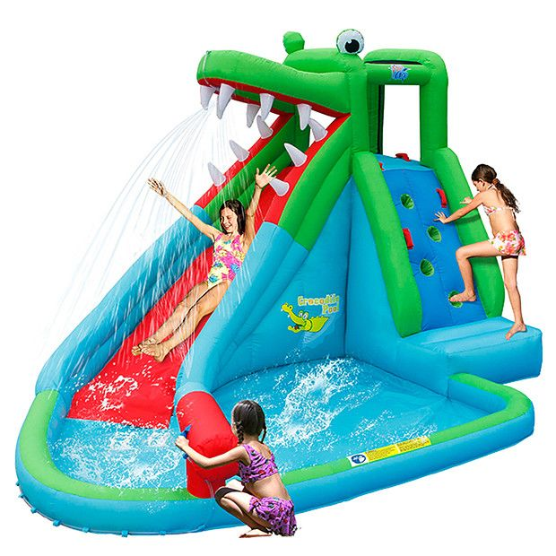 Action air crocodile water slide and pool target australia natalie pinterest for Swimming pools target australia