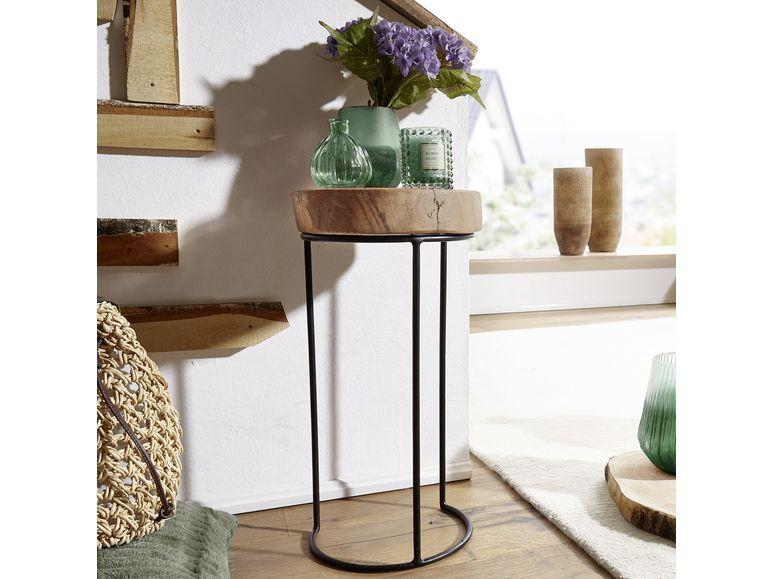 Wohnling Beistelltisch Massivholz Akola 1 Beistelltisch Rund Beistelltische Tisch