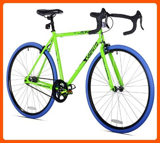 Takara Kabuto Single Speed Road Bike, 700c, Green/Blue, Medium/54cm ...