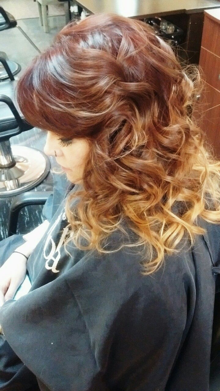 Red to blond ombre hair by stevey snyder pinterest blond and ombre