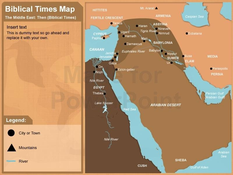 Middle East Bible Map Editable in PPT BIBLE MAPS Pinterest