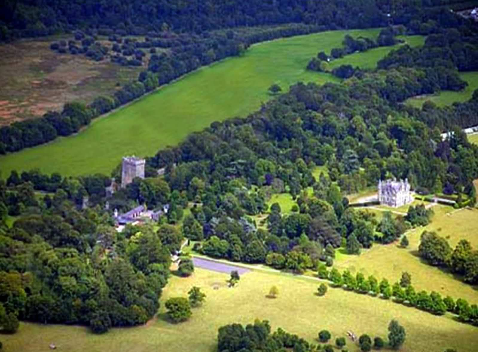 Dublin Ireland Blarney Castle sky view. (With images