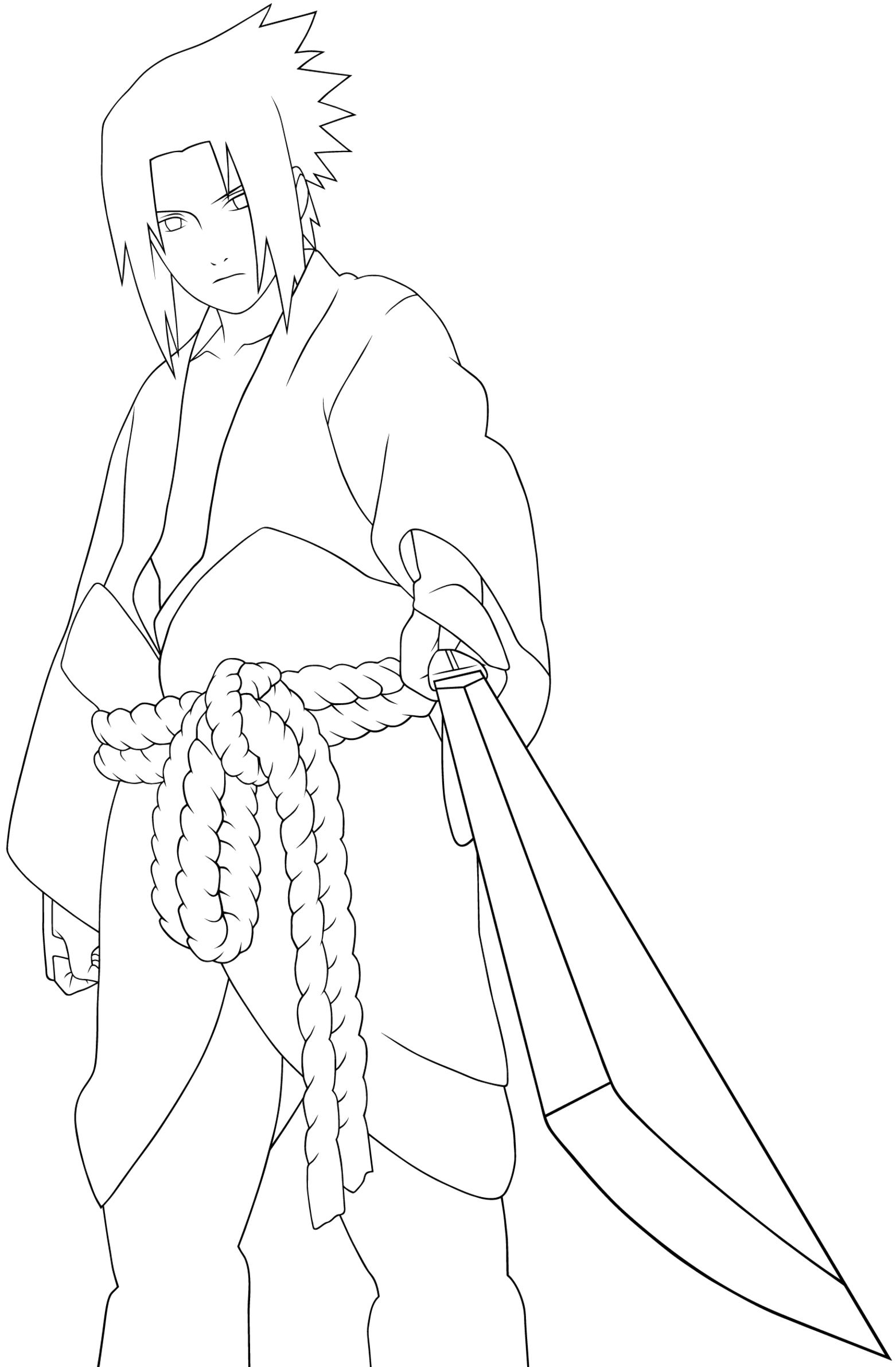 a very cool person sasuke coloring pages