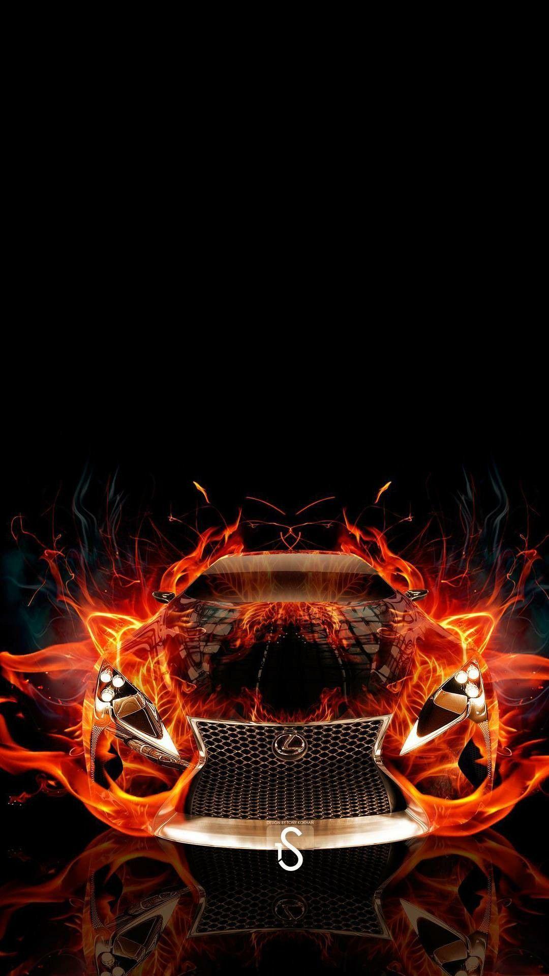Fire Car Car Wallpapers Wallpaper Hd Phone Wallpapers