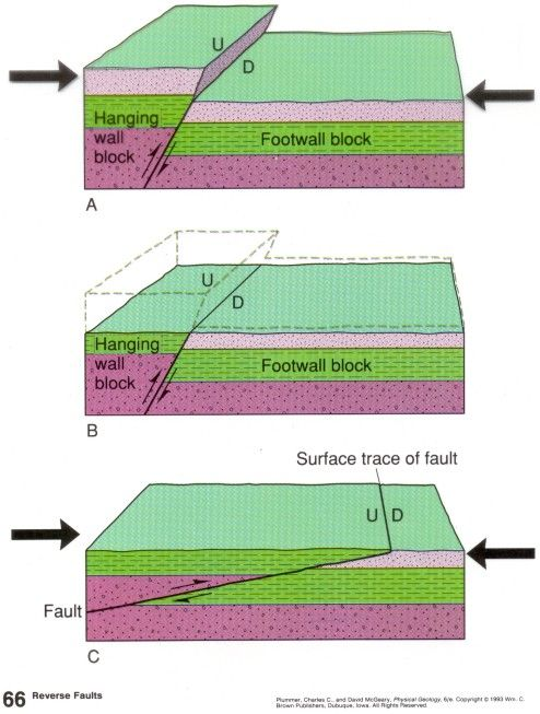 Geologic Structures And Diagrams Geology Diagram Landforms