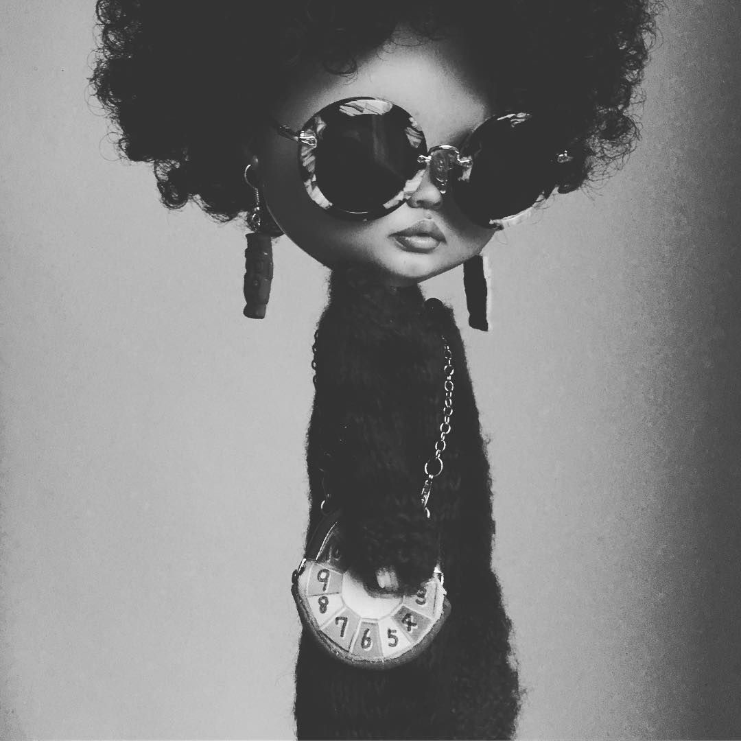 Too cool for school #afro #heathersky #blythe #tiinacustom