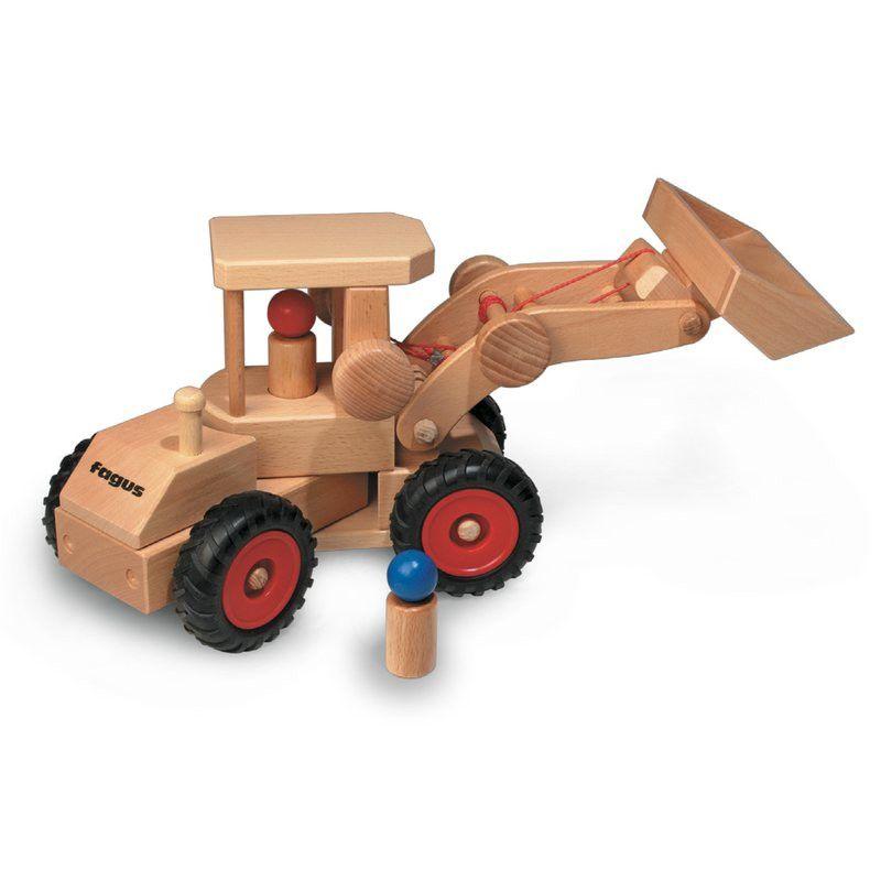 FAGUS Radlader - Traktor aus Holz | KidsWoodLove | Kindermöbel ...