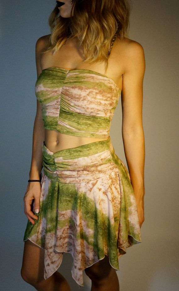 Vintage Tie Dye Outfit S M Pixie Fairy Outfit UpCycled OOAK Hippie Gypsy Club…