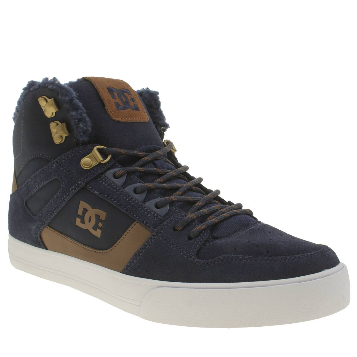 mens dc shoes navy spartan hi wc winterised trainers