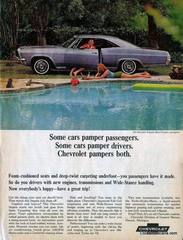 1965 Chevy Impala Ad Impala Chevrolet Chevy