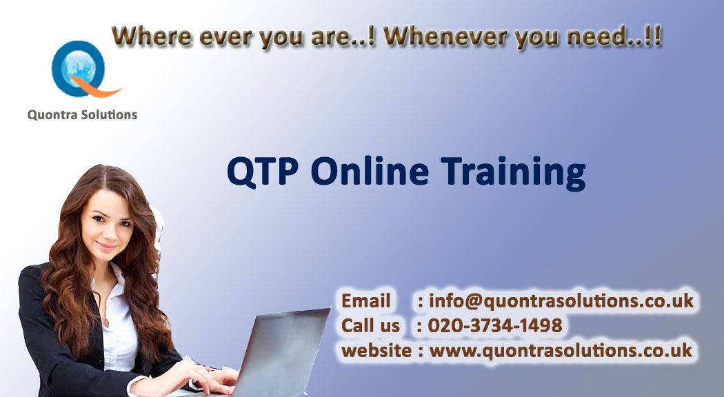 QTP online training offered by Quontra Solutions with special - qtp resume