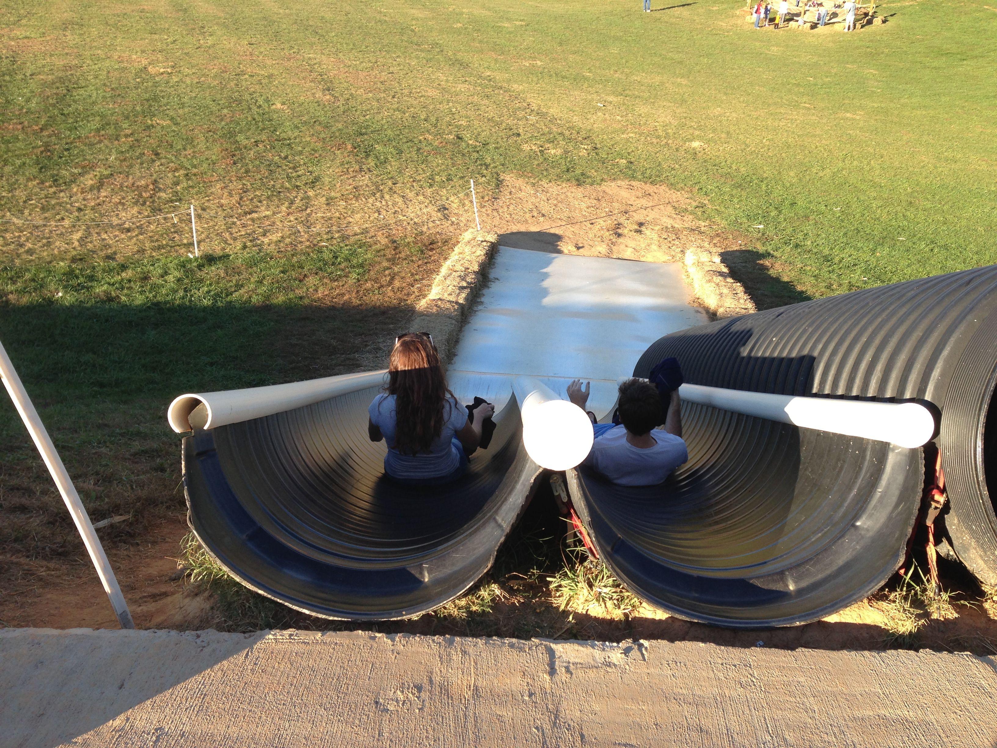 Homemade slide ~ Ty wants one Wynn! HAHA!   Backyard ...