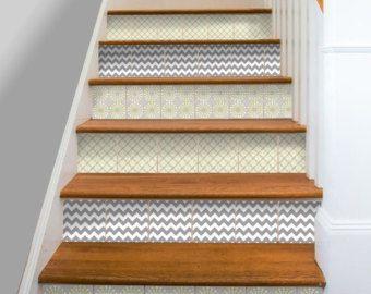 Cuisine salle de bain mur escalier contremarche tuile stickers ...