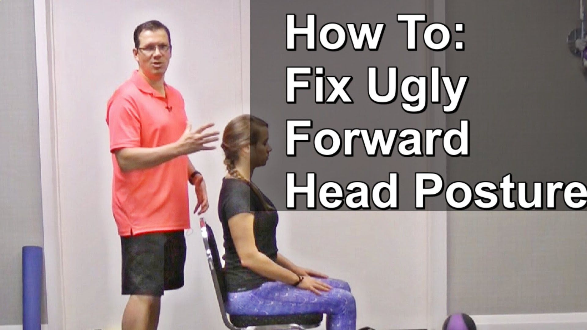 Searching for one of the best exercises that will help you fix ugly forward head posture? Check out this video. This simple exercise called the Chin Tucks ...