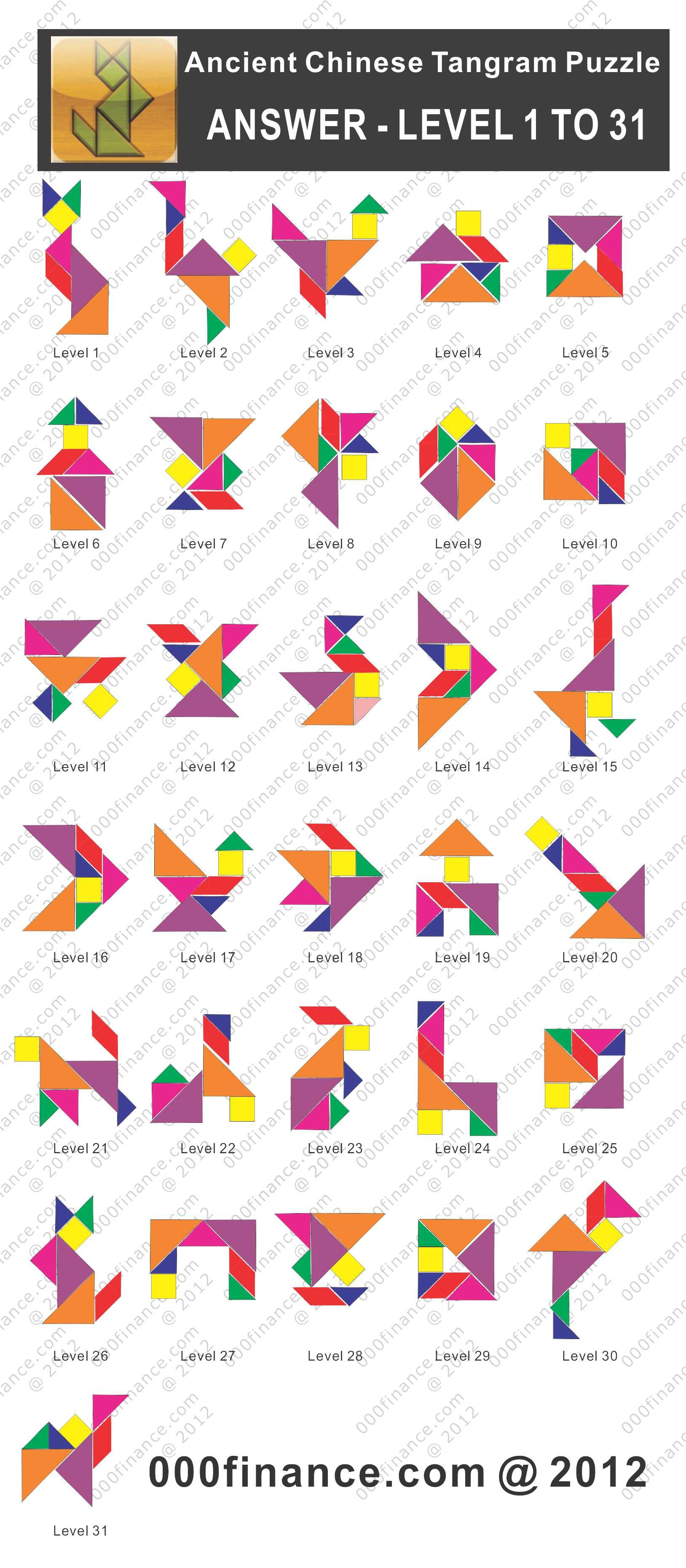 Ancient Chinese Tangram Answer 1 628 3 720 Pixels