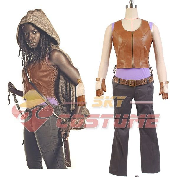 Click to Buy \u003c\u003c The Walking Dead Michonne Outfit Cosplay Costume For - walking dead halloween costume ideas