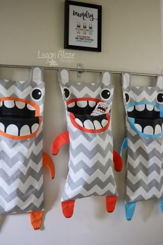 Monster Hamper Laundry Bag Childrens Laundry Basket Hanging