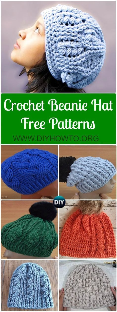 Repeat Crochet Me: Crochet Cabled Beanie Hat Free Pattern | crafts ...