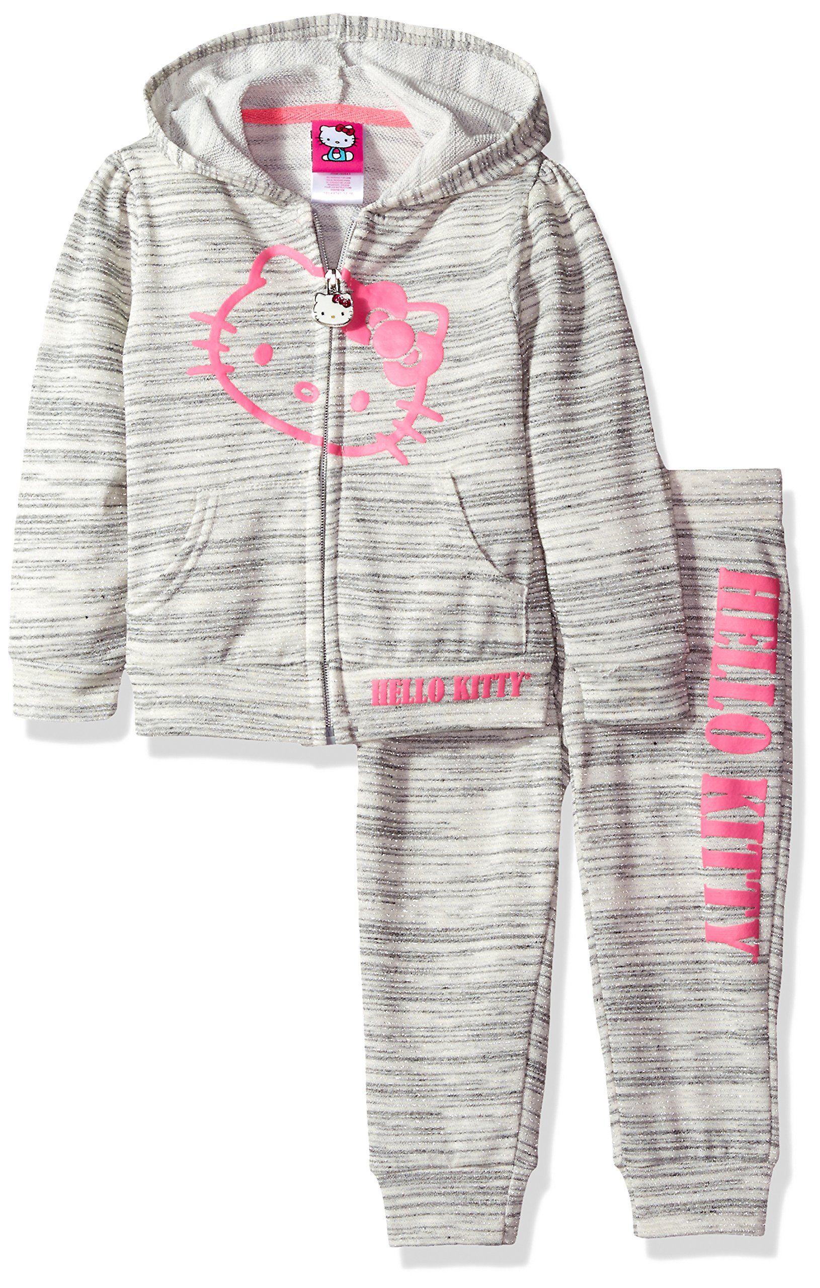 Hello Kitty Toddler Girls 2 Piece Embellished Active Set
