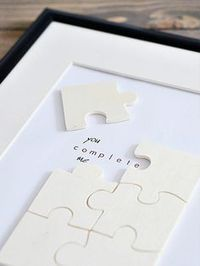 Free tutorial for a valentine's day puzzle, love / lovely diy tutorial: make a puzzle for valentines day via DaWanda.com -  - #giftforboyfriend