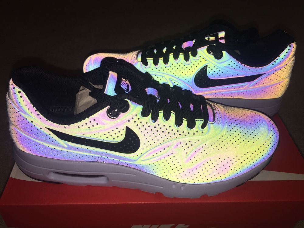 Nike Air Max 1 Ultra Moire QS Iridescent Holographic 90 3M 777428-200 SZ 9.5
