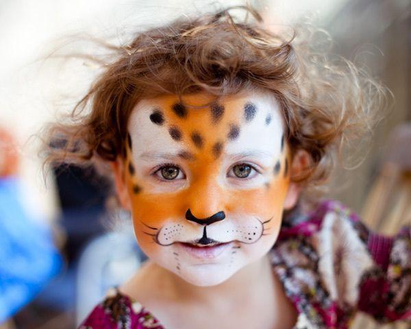 l opard pau leopard schminken kind kinderschminken. Black Bedroom Furniture Sets. Home Design Ideas