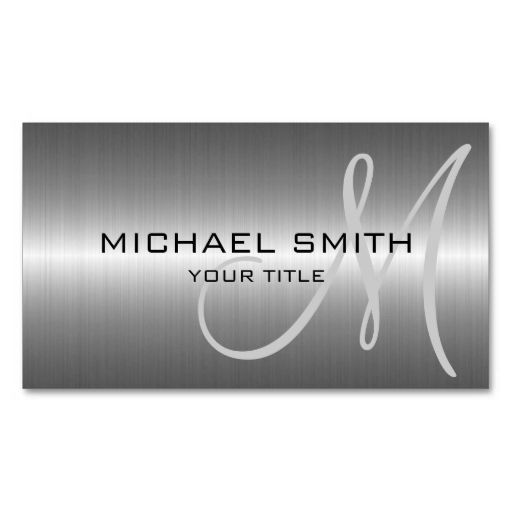 Silver Stainless Steel Metal Double-Sided Standard Business Cards (Pack Of 100). This is a fully customizable business card and available on several paper types for your needs. You can upload your own image or use the image as is. Just click this template to get started!