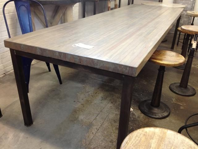 10u0027 Reclaimed Bowling Alley Table